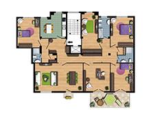 Dimora di mare appartamenti vacanze a grottammare sulla for Planimetrie delle case con struttura in metallo